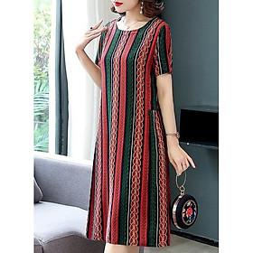 Đầm Thời Trang -Váy Trung Niên, Thiết Kế Họa Tiết Sang Trọng