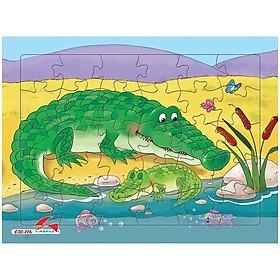 Tranh Xếp Hình A4 30 Mảnh - Cá Sấu 030-116
