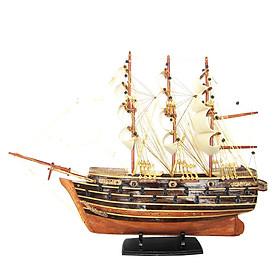 Mô hình thuyền gỗ trang trí Napoleon - thân 40cm - loại 1