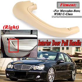 Beige Front Right Side Door Pull Handle Interior For Mercedes W203 C-Class