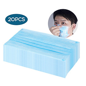 20Pcs/Bag 3 Layers Disposable Mouth-muffle Face Cover Men Women Anti-fog Breathable