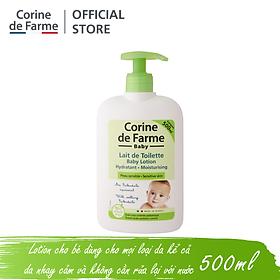 Lotion làm sạch và dưỡng ẩm da cho bé Baby Lotion - Corine de Farme (500ml)