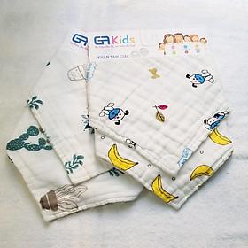 Combo 04 khăn cotton tam giác 18x45cm - GA Kids
