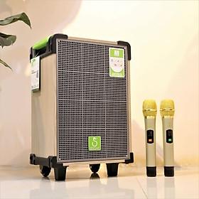 Loa kéo SOK 338 - Loa kéo di động bass 2.5 tấc - Kèm 2 micro không dây - Loa kẹo kéo xách tay du lịch - Có remote, đầy đủ kết nối bluetooth, AUX, USB, SD card - Chức năng true wireless - Thiết kế vỏ gỗ sang trọng, âm thanh sống động - hàng chính hãng