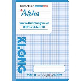 Vở kẻ ngang Alpha - 72 trang; Klong 830 bìa xanh tím