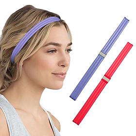 Sport Headband Sweatband Hair Band Anti-slip Headwear Elastic Hair Band 2PCS