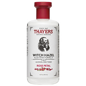 Nước Hoa Hồng Không Cồn Thayers Witch Hazel Rose Petal 355ml (Dành cho da khô, da thường)