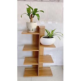 Kệ Gỗ Trang Trí Chậu Hoa, Cây Cảnh, Sách Vở 5 Tầng Sang Trọng
