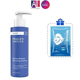 Sữa rửa mặt dưỡng ẩm Paula's Choice resist optimal results hydrating cleanser 190ml TẶNG mặt nạ Sexylook (Nhập khẩu)