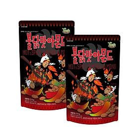 Combo 2 gói Hạnh nhân vị Gà cay Hàn QuốcTomsfarm Hot spicy Chicken Almond 210g x 2ea
