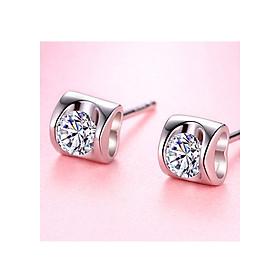 Hình đại diện sản phẩm Bông tại bạc nữ Trái Tim Diệu Kỳ sang chảnh tinh tế, khuyên tai bạc, khuyên tai nụ bạc S925 BT19