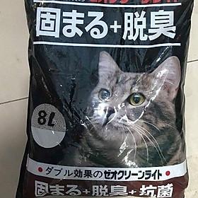 Cát vệ sinh cho mèo cát nhật 8L 4 mùi hương [giao mùi ngẫu nhiên]