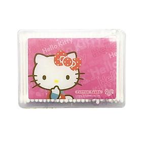 Bông tăm Hello Kitty - 200 que-6 hộp (que nhựa mềm)
