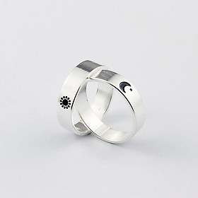 Nhẫn Đôi Mặt Trăng Mặt Trời Glosbe Jewelry