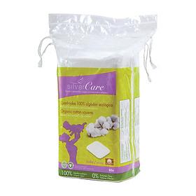 Bông tẩy trang hữu cơ chữ nhật Silvercare cho mẹ và bé (60 miếng)-0