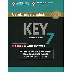 Cambridge English KEY - Key English Test 7 with Answers (FAHASA reprint edition)