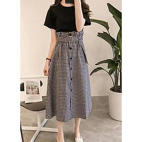Bộ áo thun và chân váy kèm belt D-LAH08