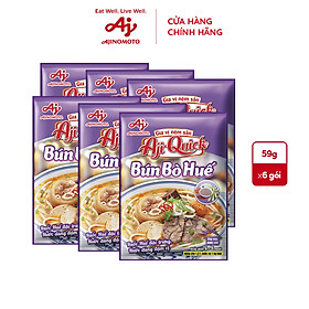 Lốc 6 gói Bún Bò Huế Aji-Quick 59g