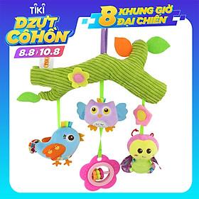 Đồ chơi trẻ em được làm bằng bông mềm an toàn cho trẻ sơ sinh dễ dàng gắn xung quanh cũi xe đẩy .Màu sắc tươi sáng kích thích phát triển thị giác của bé