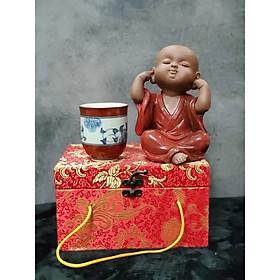 Tượng Chú tiểu không nghe (Tặng kèm ly trà gốm Nhật) - CT01