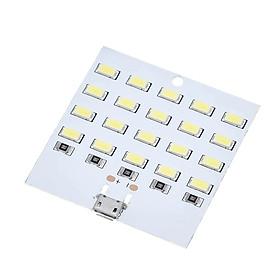 Tấm Đèn Led 20 Bóng Led Khẩn Cấp Ban Đêm Với Cổng Nguồn Micro USB Siêu Sáng 5V 430mA ~ 470mA Chất Lượng Cao