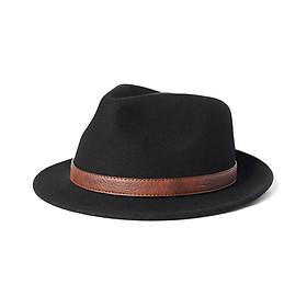 Mũ phớt nam len lông cừu Úc viền da sang trọng MP040 - Tặng đế giữ form mũ
