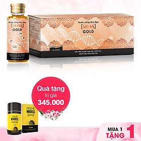 Nước uống làm đẹp Collagen Gold ADIVA (14 lọ/ hộp) - Tặng Nghệ Micell ADIVA (lọ 14 viên)