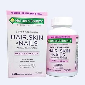 Viên uống Nature's Bounty Hair, Skin & Nails – Đẹp Da Chắc Tóc Hộp 250 viên