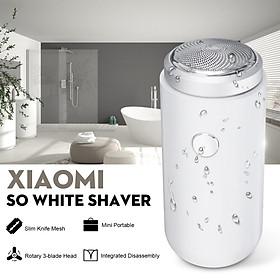 Máy cạo râu điện Xiaomi SO WHITE mini, có thể sạc lại, cổng USB
