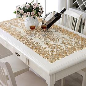 Khăn trải bàn kích thước 50x110cm, ren hoa cao cấp