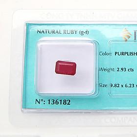 Viên đá quý phong thủy tự nhiên Ruby RBG2.93
