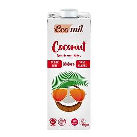 Sữa Dừa Không Đường Hữu Cơ Ecomil (1L) - Organic Coconut Milk Sugar-free