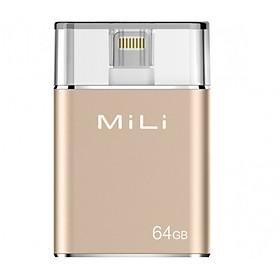 Ổ Cứng Di Động Mili IDATA 64GB USB 3.0 (Vàng) - Hàng Chính Hãng