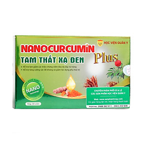 Nanocurcumin Tam Thất Xạ Đen Học Viện Quân Y PLUS (Hộp xanh 30 Viên)