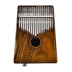 Đàn Piano Ngón Tay Kalimba Solid Acacia Kết Nối Với Loa Điện Tử Có Túi Đựng Cáp