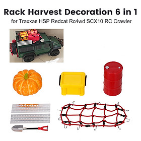 Rack Harvest Decoration 6 in 1 Big Oil Tank Storage Box Simulated Pumpkin Shovel Aluminum Self-Help Boards and Luggage