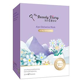 Mặt Nạ Hoa Nhung Tuyết An-Pơ Dòng Phục Hồi My Beauty Diary Alps Edelweiss Ultra Repairing Mask (8 Miếng / Hộp)