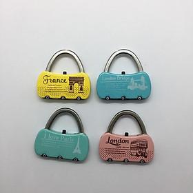 RLC25B Khóa số vali Real hình túi sách nút thay mã trên siêu dễ thương- Giao màu ngẫu nhiên