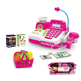 Bộ đồ chơi nhập vai BOWA 8343 - Quầy thanh toán 13 chi tiết, có dùng pin