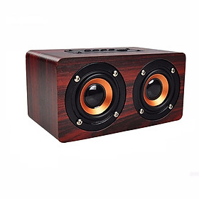 Loa Bluetooth vân gỗ HIFI Stereo Speaker