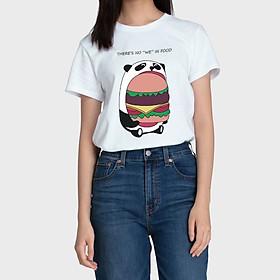 Áo Thun Nữ Dáng Suông Màu Trắng There's No We In Food Aaa Jeans