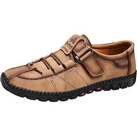 Velcro Lazy Slip-Resistant Casual Shoes Men'S Lightweight Breathable Wear-Resistant Handmade Shoes