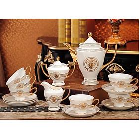 Bộ ấm trà sứ xương  15 chi tiết sang trọng