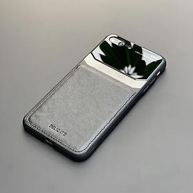 Ốp lưng da kính cao cấp dành cho iPhone 7 Plus / iPhone 8 Plus - Màu đen - Hàng nhập khẩu - DELICATE