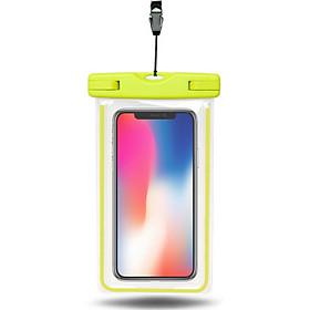 Túi chống nước dạ quang WaterProof phát sáng trong tối cho điện thoại 6 inch chuẩn chông nước IPx8 cao cấp - Hàng nhập khẩu