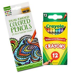 Combo 12 Bút Sáp Màu + 24 Bút Chì Màu - Crayola CB20C12P24