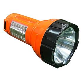Đèn Pin LED Điện Quang ĐQ PFL08 R OBL (Pin sạc, Cam- Đen)