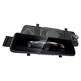 10-inch 2.5D Media Dashcam HD Night Vision Dual Lens Car Camera
