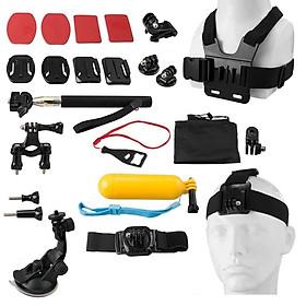 Bộ Phụ Kiện Đa Năng Cho Camera Hành Trình Hành Động PK47 23 in 1 Action Cameras & Sport DV Accessories - Hàng Chính Hãng