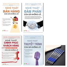Combo bộ sách chiến lược kinh doanh của gã khổng lồ (Nghệ Thuật Bán Hàng + Nghệ Thuật Chinh Phục Khách Hàng Qua Điện Thoại+Nghệ Thuật Thuyết Trình+Nghệ Thuật Đàm Phán) tặng kèm bút bi